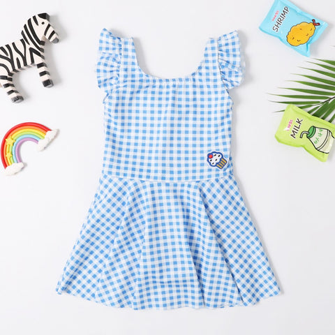 Girls Gingham Swimsuit