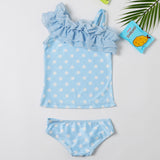 Mommy and me matching polka dot vacation Swimsuit