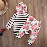 Miss Rose Baby Floral Tops & Pant Set