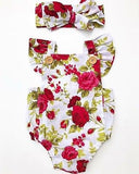 Miss Rose Floral Romper 2 pcs set