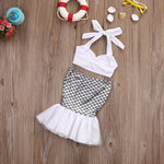 Little Girls Mermaid Swimsuit 2 pcs set
