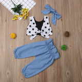 Girls Polka dot 3 pcs outfit