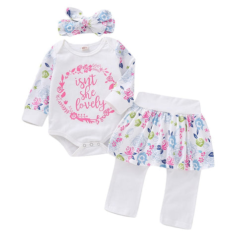 Isn't She lovely baby girl 3 pcs outfit