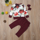Baby Girl floral Ruffle Butt 3 pcs set - Debbie's Kids Boutique