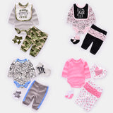 Infant Baby Ruffle Butt 4pcs set