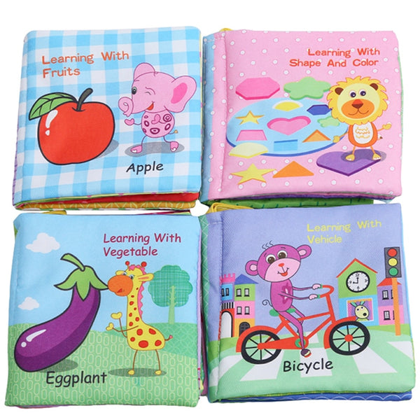 Baby Rattle Cloth Book