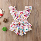 Emma's backless Unicorn romper - Debbie's Kids Boutique