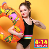 Girls Trendy Stripe Swimsuit