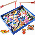 Wooden Fishing Magnetic Toy Set (32pcs)