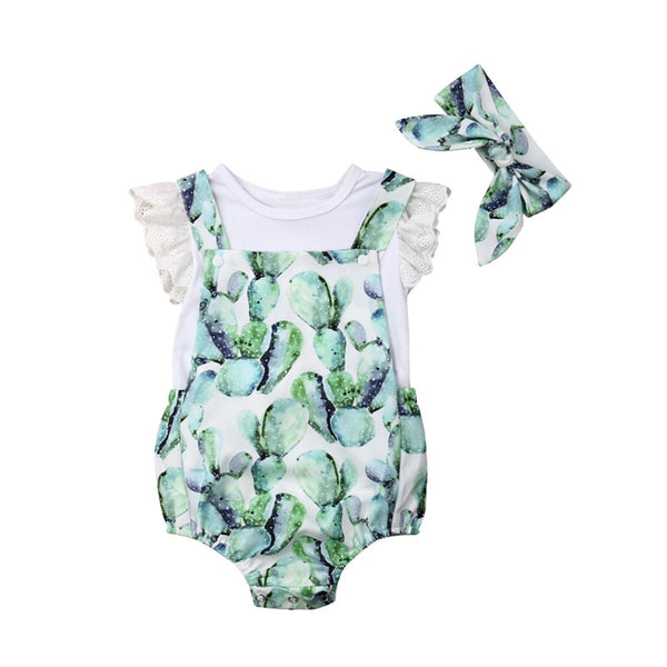 Baby Girls Cactus 3 pcs outfit set - Debbie's Kids Boutique