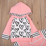 Pretty Hearts Baby Top and Pants set