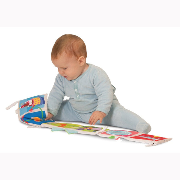 Baby Multi-Touch Colorful Bed Bumper and Book