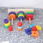 Baby Wooden Geometric Three Column Shape Set - Debbie's Kids Boutique