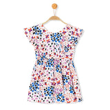 Butterfly Sleeve Toddler Girl Open Back Dress - Debbie's Kids Boutique