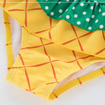 Little Girls Pineapple style Girls Split Swimsuit 3 pcs set