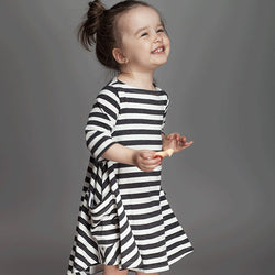 Lia's Asymmetrical striped princess dress - Debbie's Kids Boutique