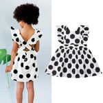 Girls Ruffle Polka Dot Dress