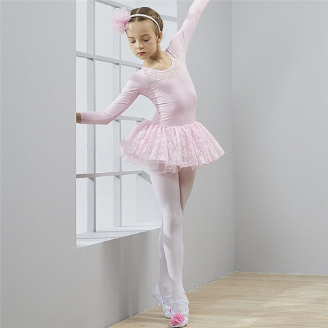 Ballet Tulle Long Sleeve Dress