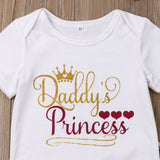 Daddy's Princess Newborn Baby Girl 3PCS Outfit