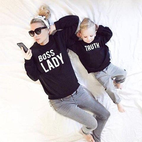 Mommy and me Boss Lady Sweatshirt