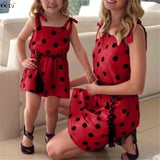 Mommy and Me Sling Polka Dot Dresses