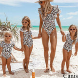 Mommy and Me matching Leopard Swimsuit