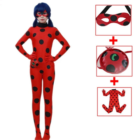 Ladybug Dot Halloween Costumes includes+Bag Eye Mask