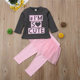 I'm so cute girls outfit