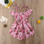 Toddler Girls Off shoulder Floral Sundress