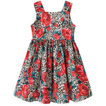 Girl's Rose printed Summer Dress