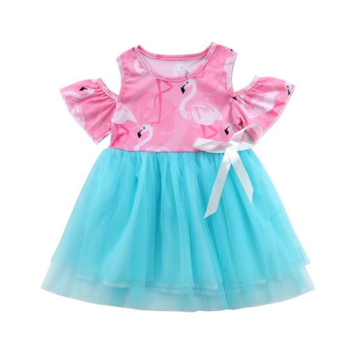 Toddler Off Shoulder Party Dress