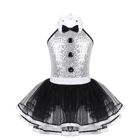 Girls Sequins Ballet Tutu Dress