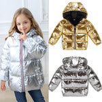 Girl's Silver Winter Down Jacket