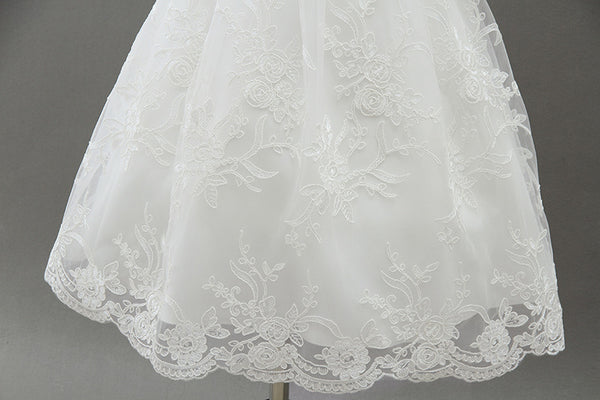 Baby Ivory Lace Baptism Dress