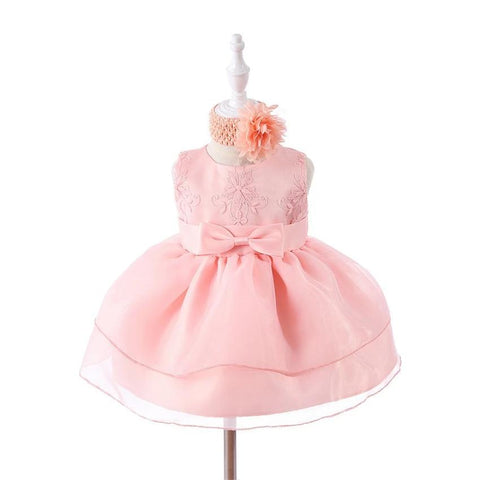 Infant Girl Birthday/Party dress and Headband set