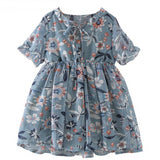 Little Girl's Floral Chiffon Dress
