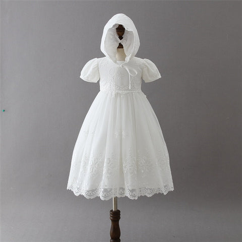 Stunning Baby Girl Lace Christening Dress