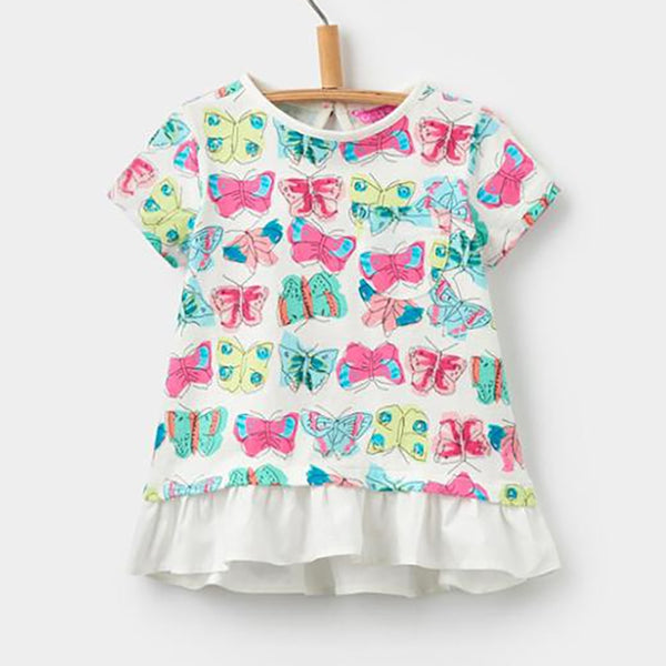 Pretty Butterfly Little Girls Tee