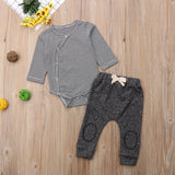 Soft Warm Terry Baby Romper and Pant set