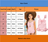 Girls Pink Bow SwimSuit