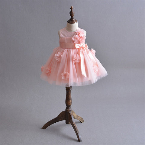 Stunning Pick Flower Baby Girl Dress