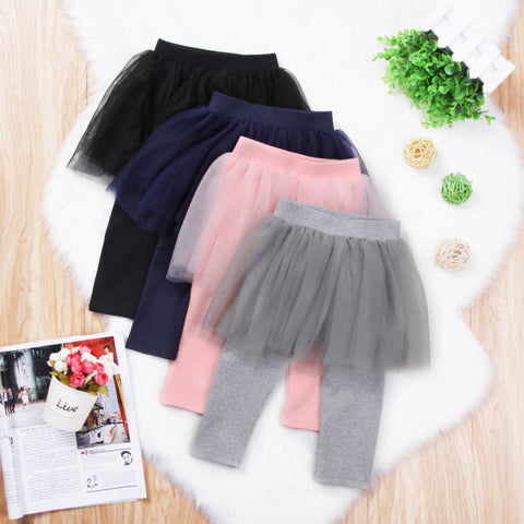 Baby Lace Tutu Skirted Leggings - Debbie's Kids Boutique