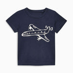 Blue Plane little Boys Tee - Debbie's Kids Boutique
