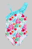 Girls Printed Swimsuit