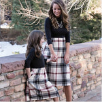 Mommy and Me matching Plaid Dress