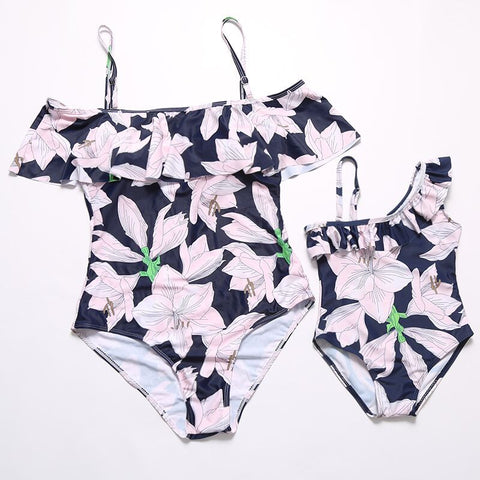 Mommy and me Ruffle Swimsuit