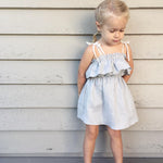Toddler Girls Ruffle Straps Sleeveless Dress