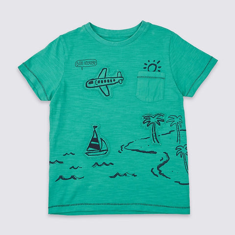 Bon voyage Little Boys Tee - Debbie's Kids Boutique