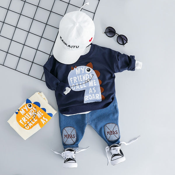Roar Dino Boys Sweatshirt and Pants Set