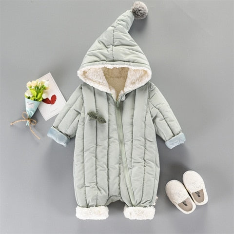 Baby Girl Winter Romper Coat